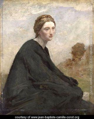 DeadlineThe-brooding-girl,-c.1857 jean-baptiste-camille-corot.org